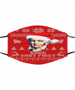 Aaron Burr Shot First Ugly Christmas red face mask