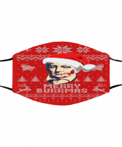 Aaron Burr Merry Burrma Ugly Christmas Face Mask