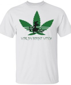 World's Dopest Witch Adidas Weed Cannabis shirt