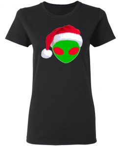 Alien Santa Claus Hat Christmas Logo Ugly Christmas Sweater