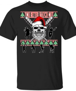 You Better Watch Out Zombie Santa Ugly Christmas Sweater