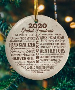 2020 Lock Down Decorative Christmas Ornament Funny Holiday Gift