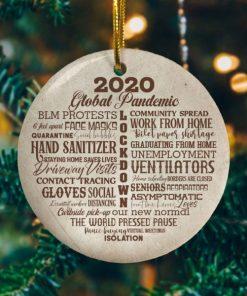 2020 Lock Down Decorative Christmas Holiday Ornament