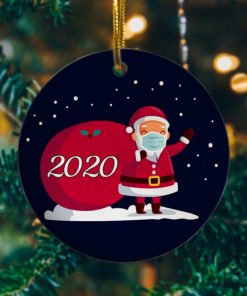 2020 Christmas Cute Santa Wear Mask With Gift Christmas Ornament Keepsake Decorative Christmas Holiday Ornament