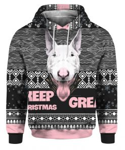 Bull Terrier Keep Christmas Great 3D Ugly Christmas Sweater