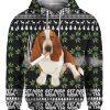 Basset Hound Get High Cannabis 3D Ugly Christmas Sweater