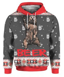 Bear Beer 3D Ugly Christmas Sweater Hoodie