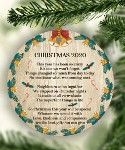 2020 Christmas Lockdown Quarantined Ornament – Pandemics Holiday Gift -Family Ornament 2020