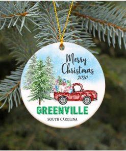 2020 Greenville South Carolina SC Decorative Christmas Holiday Ornament