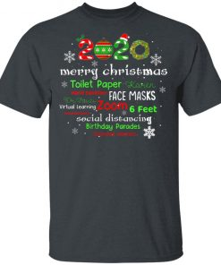Women's Christmas 2020 in Quarantine with Face Mask Stay 6 Feet T-Shirt