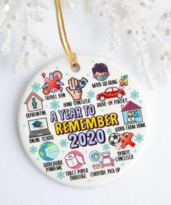 2020 A Year To Remember Quarantine Decorative Christmas Holiday Ornament