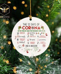 2020 Christmas Mica Ornament 12 Days of Corona Quarantine Pandemic