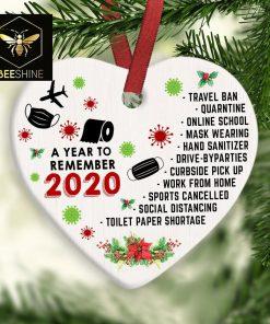 2020 Christmas Ornament 2020 Christmas Decoration 2020 Keepsake Bauble Lockdown Quarantine Pandemic Coronavirus COVID Christmas Ornament