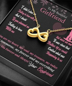 To My Beautiful Girlfriend I Didn't Plan On Falling In Love With You Infinity Heart Necklace 1