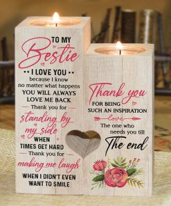 To My Bestie - Thank You For Making Me Laugh - Candle Holder Color