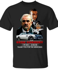007 Sean Connery 1930 2020 Thank You For The Memories Shirt
