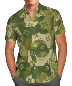Amazing Camouflage Gaming Joysticks Hawaiian Shirt, Beach Shorts