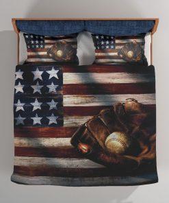 American Flag Baseball Bedding Set
