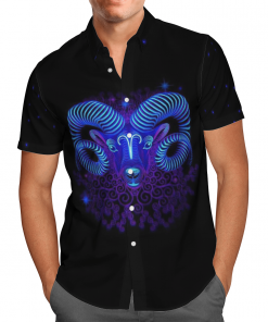 Aries Horoscope Hawaiian Shirt, Beach Shorts