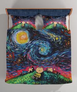 Charlie Brown And Friends Van Gogh Bedding Set