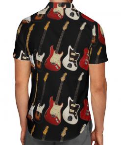 Electric Guitars Colorful Hawaiian Shirt, Beach Shorts