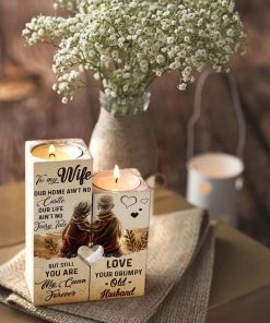 For My Wife - You Are My Queen Forever - Candle Holder With Heart