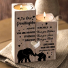 Grandma & Grandpa to Granddaughter - You Are Loved More Than You Know - Engraved Candle Holder With Heart