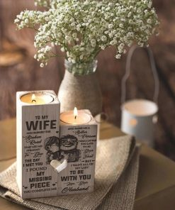 Husband To Wife - I Want All Of My Last To Be With You - Candle Holder With Heart