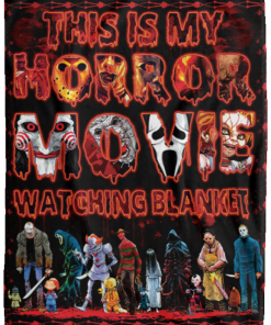 This Is My Horror Movie Watching Blanket, Halloween Fleece Blanket