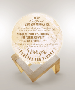 To My Girlfriend I Want You And Only You All Of Me Loves All Of You Moon Lamp