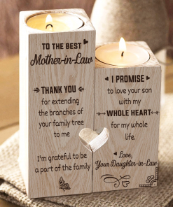 To My Mother-in-Law - Thank You For Extending The Branches - Candle Holder With Heart