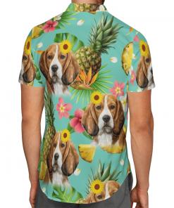 Tropical Pineapple Beagle Hawaiian Shirt, Beach Shorts