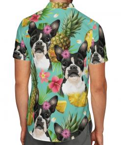 Tropical Pineapple Boston Terrier Hawaiian Shirt, Beach Shorts