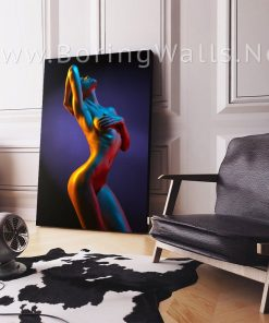 Contemporary Abstract Erotic Modern Sexy Body Painting Poster Canvas