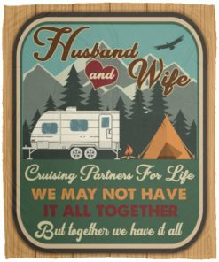 Husband And Wife Cruising Partners for Life We May Not Have It All Together Fleece Blanket