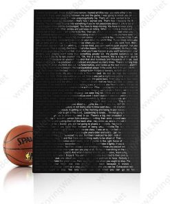 Kobe Portrait Made Out from Quotes Kobe Bryant Poster Canvas