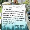 To my son Love mom amazing Blanket