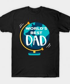Earth Worlds best dad T-Shirt