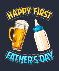 Happy First Fathers Day Dad Parent T-Shirt