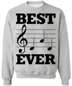 Musical note best dad ever shirt