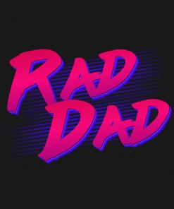 Retro Rad Dad T-Shirt