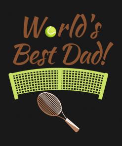 Worlds Best Tennis Dad T-shirt