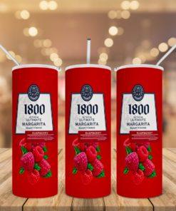 1800 Margarita Raspberry Skinny Tumbler 20oz 30oz 2