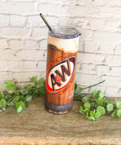 A&;W Root Beer Skinny Tumbler 20oz 30oz