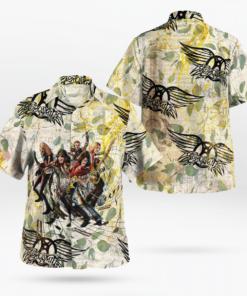 Aerosmith Band Hawaiian Shirts, Beach Short