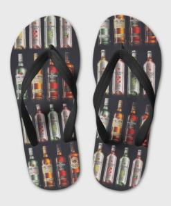 Bacardi Rum Flip Flops, beach sandals, pool slippers, shower shoes