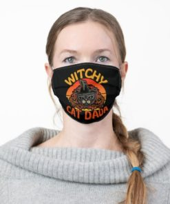 Black Cat Dada Halloween Witchcraft Witch Cat Face Mask