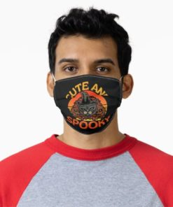 Black Cat Halloween Witchcraft Cute and Spooky Cat Face Mask