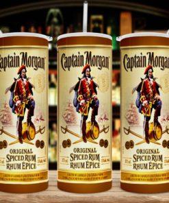 Captain Morgan Inspired 20oz 30oz Skinny Tumbler