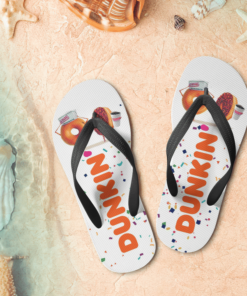 Dunkin' Donuts Flip Flops,beach sandals, pool slippers, shower shoes